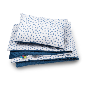 NAVY ROUNDS BLANKET SET