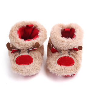 Xmas Unisex Elk First Walkers-Purple Bees