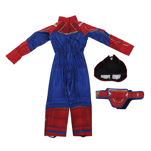 Captain Marvel Child Superhero Costume-halloween costume-Purple Bees