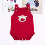 Adorable Knitted Deer Bodysuits-Baby Jumpsuits-Purple Bees