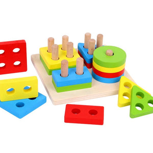 Educational Montessori Wooden Sorting Board-toys-Purple Bees