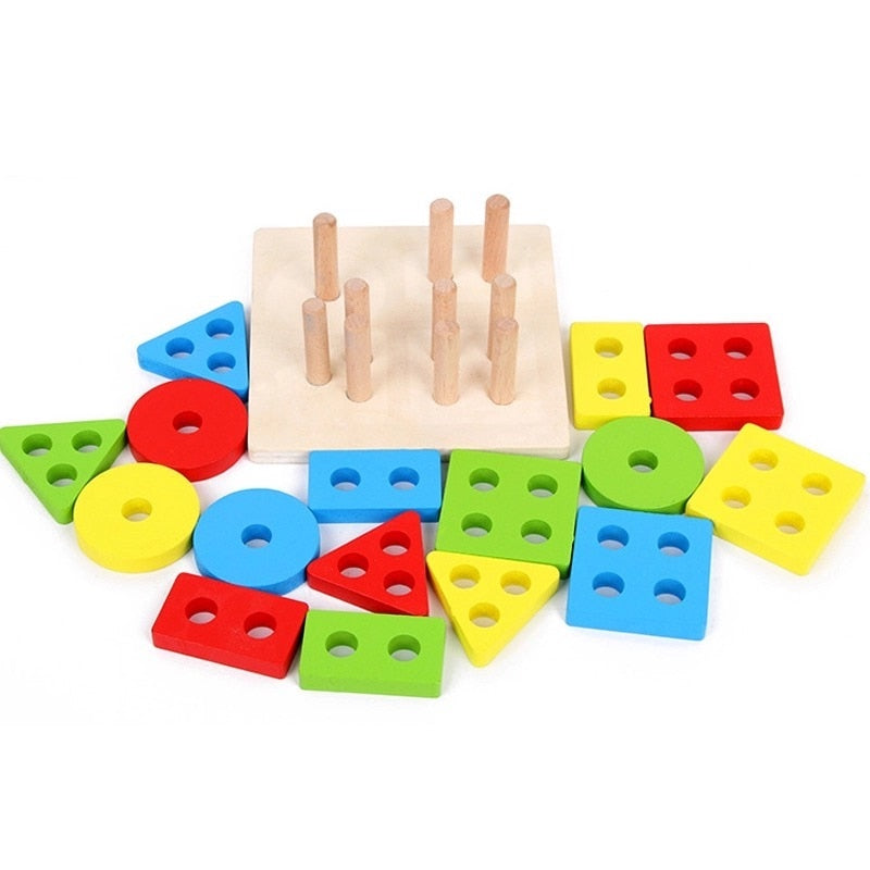Educational Montessori Wooden Sorting Board