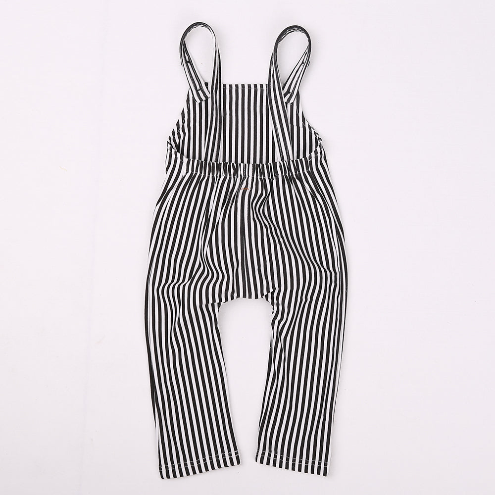 Happy Stripped Outfit Set-girls pant and top-Purple Bees