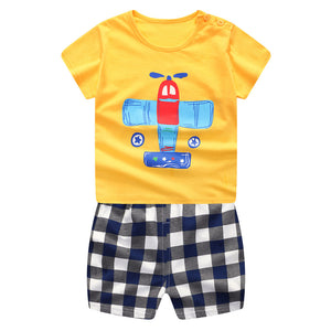 Fun Airplane Unisex 2-Piece T-shirt & Short Set