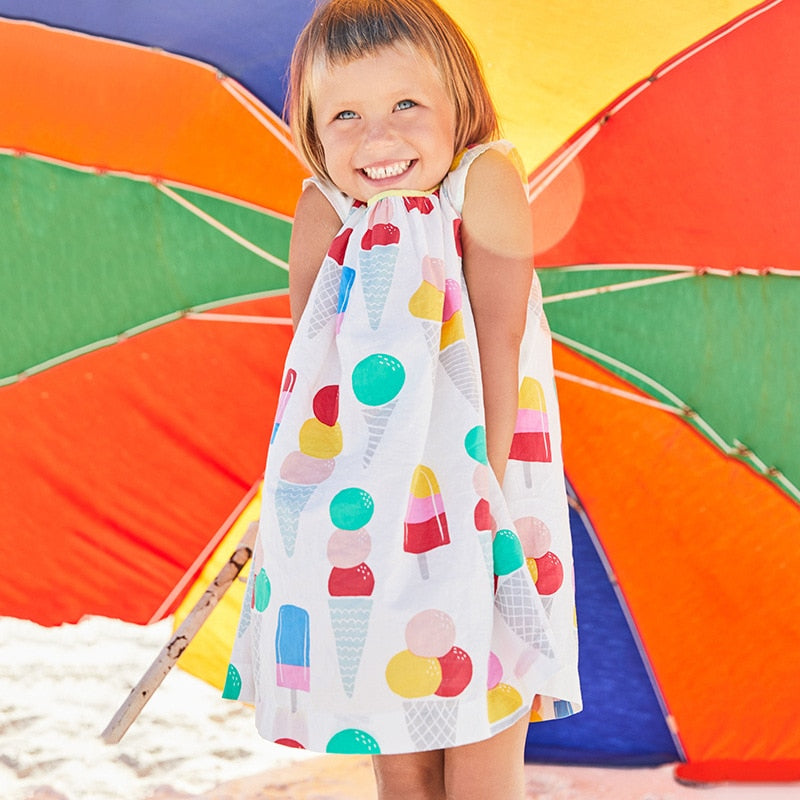 Lovely Summer Sleeveless Colorful Dress-girls skirts and dresses-Purple Bees