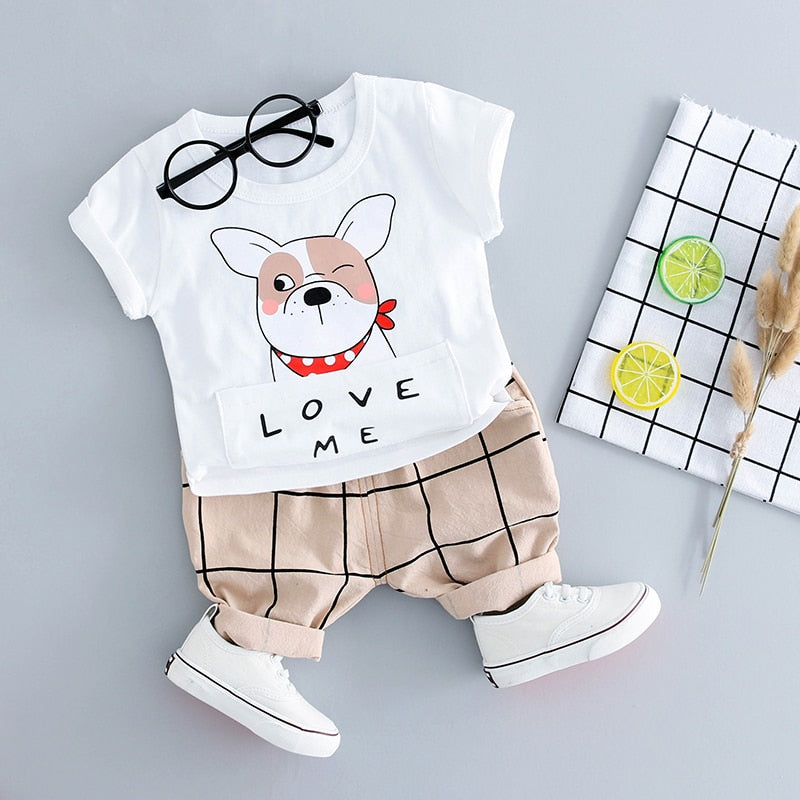 Stylish Outfit Set With Dog Print