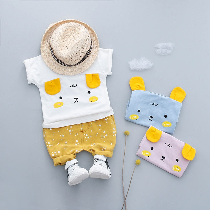 Cute Summer Cotton Clothing Sets