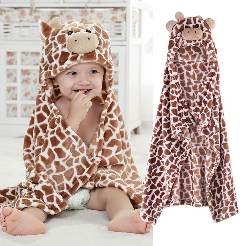 Giraffe/Bear/Bunny Shaped Baby Hooded Towels-accessorises-Purple Bees