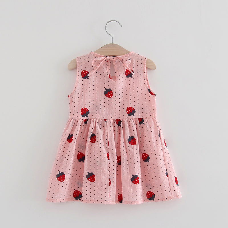 Cuttest Summer Sleeveless Dress with Various Prints-girls skirts and dresses-Purple Bees