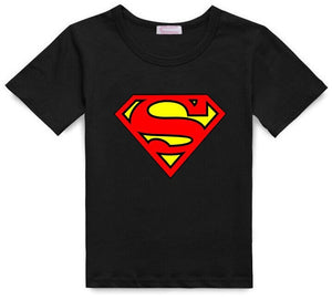 T-shirts with Spiderman, Superman and Batman Prints
