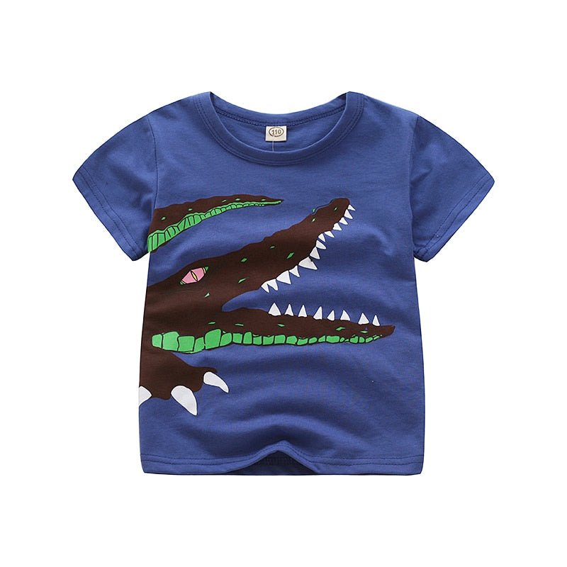Favourite T-shirt Of Your Kid With Crocodile Print-unisex top-Purple Bees