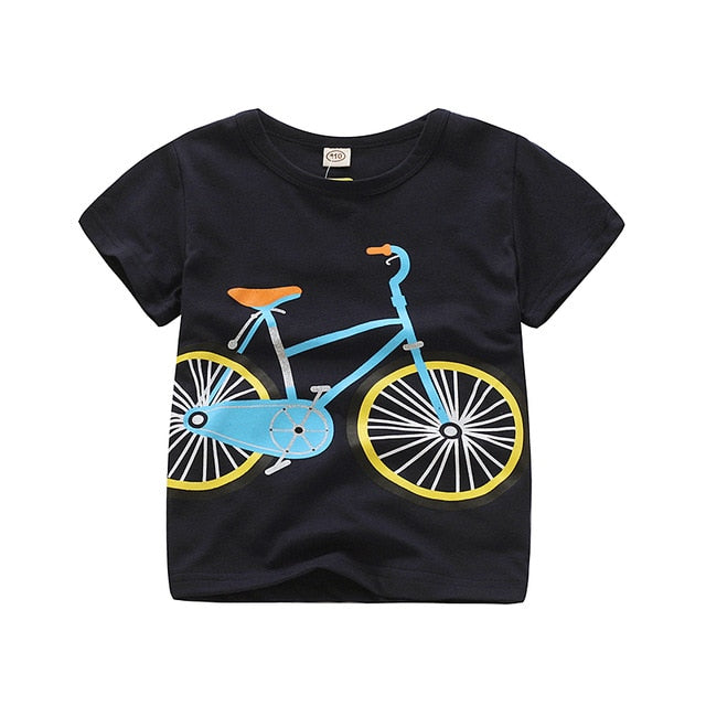 Favourite T-shirts Of Your Kid With Various Vehicle Prints