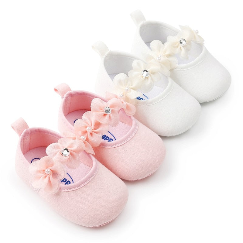 Adorable Floral Infant Shoes