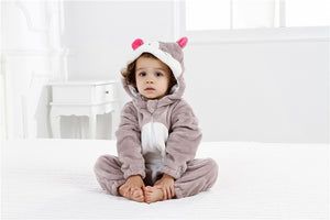 Funny Baby Animal Romper Outerwear-Baby Jumpsuits-Purple Bees