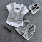 Handsome Gentlemen Clothing Set for Kids-boys pants boys tops-Purple Bees