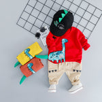 3D Dino Cotton Outfit Set