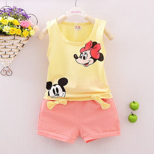 Adorable Mickey/Minnie Mouse Summer Unisex Outfit