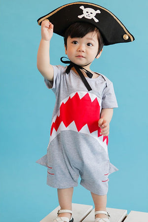 Cool Shark Jumpsuit-unisex romper-Purple Bees
