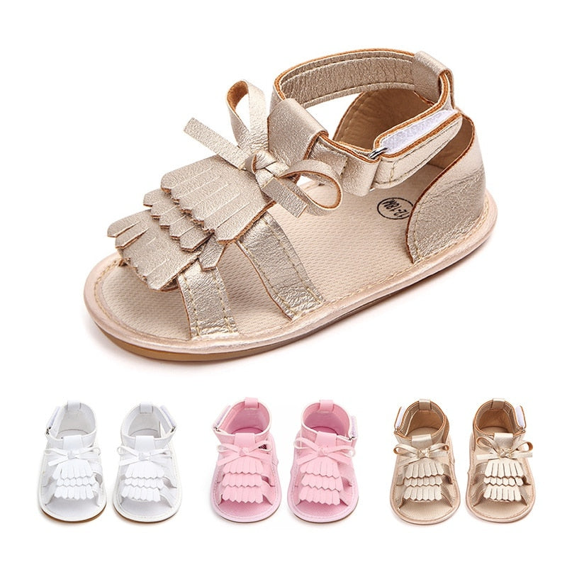Adorable Baby Sandals-girls shoes-Purple Bees