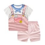 Fun 2-Piece T-shirt & Short Set for Baby Girl-girls pant and top-Purple Bees