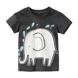 Funny Little Elephant Short Sleeve Tee-unisex top-Purple Bees