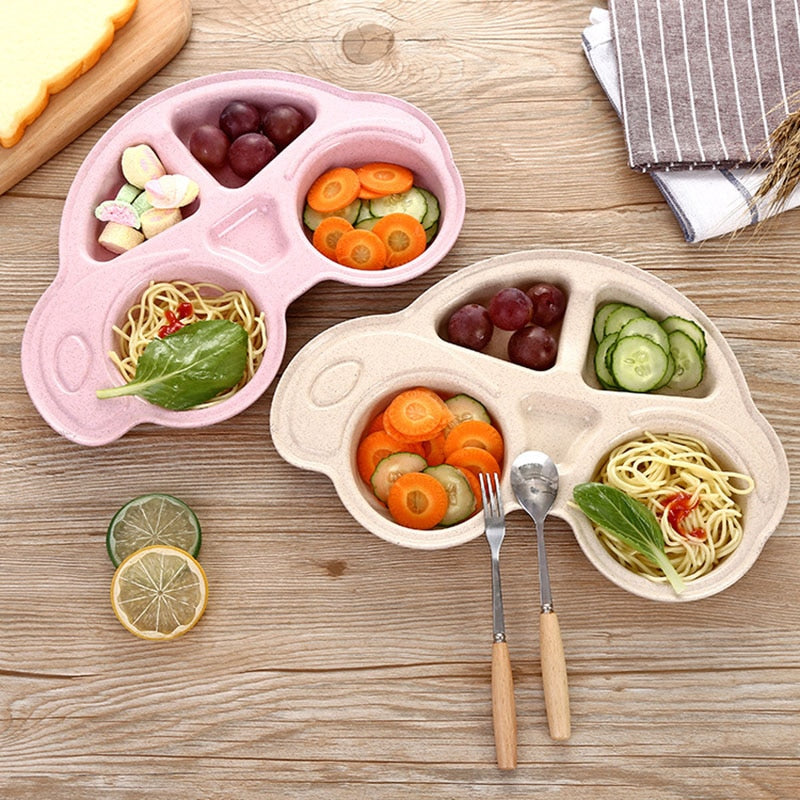 Fun Baby Car Shaped Bowls-plate-Purple Bees