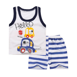Summer High Quality Cotton Clothing Set