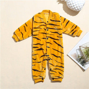 Funny Baby Tiger Romper Outerwear-Baby Jumpsuits-Purple Bees