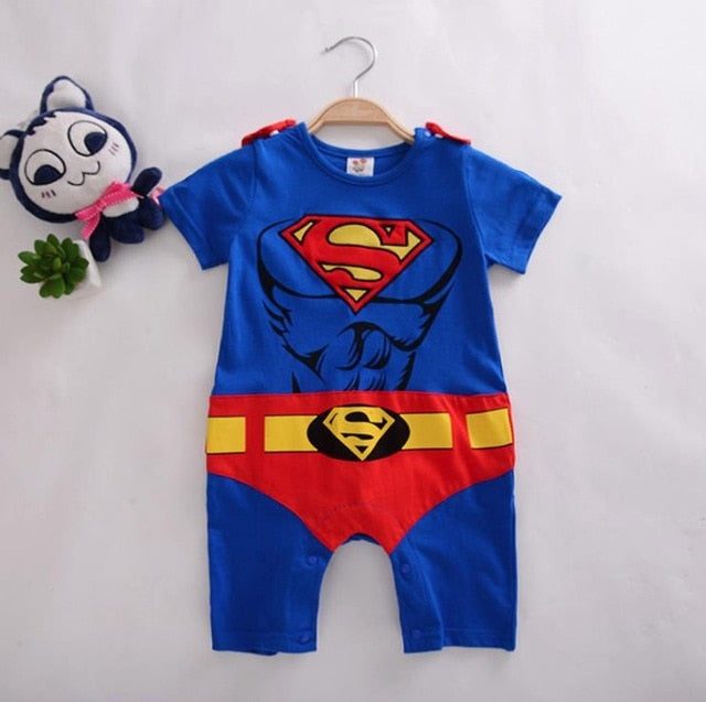 Superboy/Supergirl Romper For Halloween-Baby Jumpsuits-Purple Bees