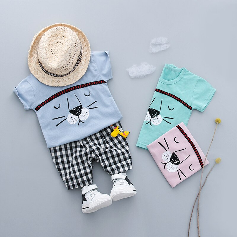 Tiger Summer Cotton Clothing Sets