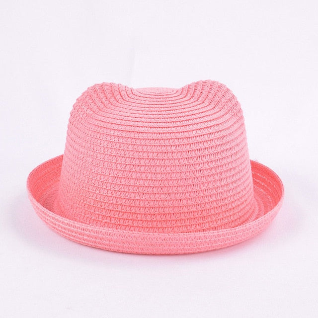 Kids Colorful Straw Hats-accessorises-Purple Bees