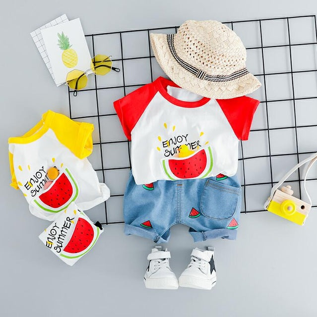 Summer Unisex Outfit with Watermelon Print