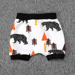 Baby Boys Fun Cotton Shorts-boys pants-Purple Bees