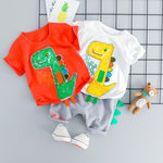 3D Cartoon Dino Summer Set