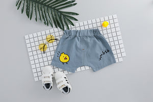 Cute Tweety Top And Short-unisex pant and top-Purple Bees