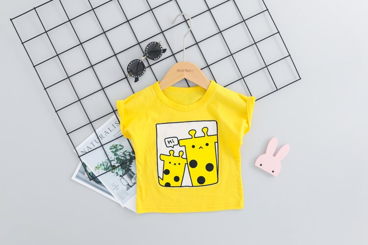 Pretty Giraffe T-shirt and Short Outfit