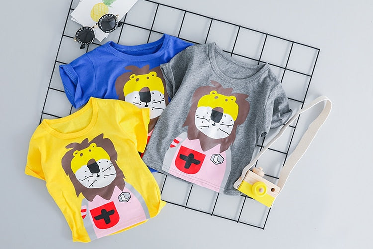 Unisex Lion T-shirt and Short Outfit-unisex pant and top-Purple Bees