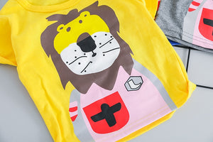 Unisex Lion T-shirt and Short Outfit
