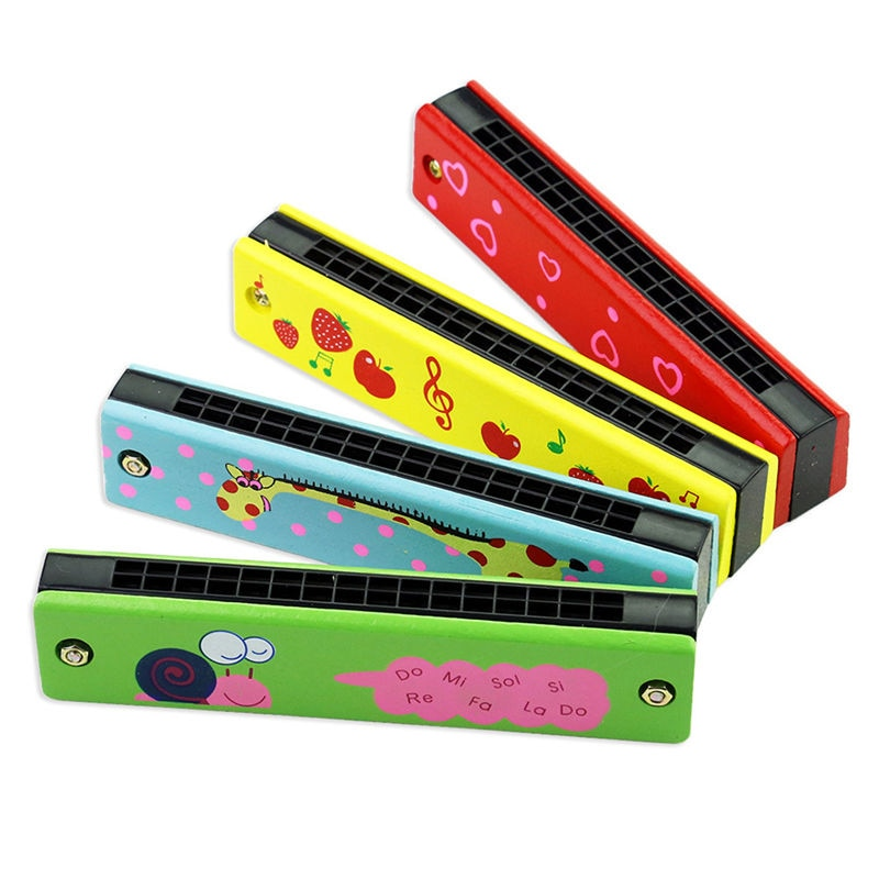 Wooden Harmonica For Kids-toy-Purple Bees