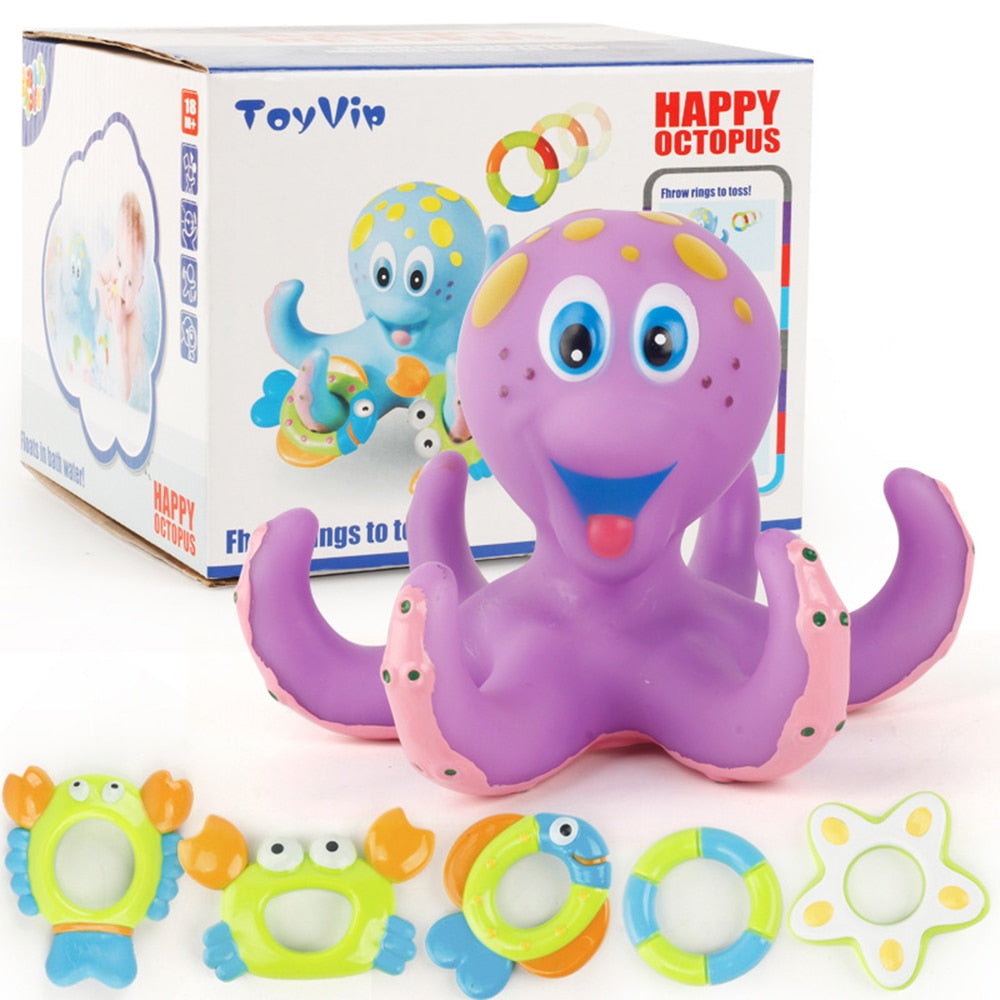 Octopus Bath Floating Toy-toy-Purple Bees