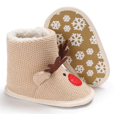 Winter Christmas Warm Shoes-baby shoes-Purple Bees