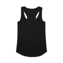 Load image into Gallery viewer, Girl in the Curl Racerback Singlet in Black - Ocean Gypsy NZ