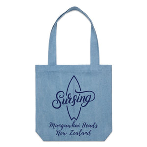Blue Surfing Beach Tote - Ocean Gypsy NZ