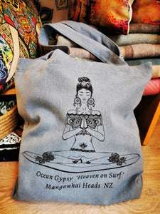 Boho Gypsy Denium Blue Tote - Ocean Gypsy NZ