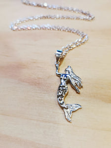 Sparkling Mermaid Necklace with Italian Chain - Ocean Gypsy NZ
