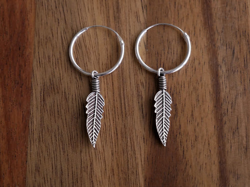 Boho Gypsy Feather 925 Sterling Silver Earrings - Ocean Gypsy NZ
