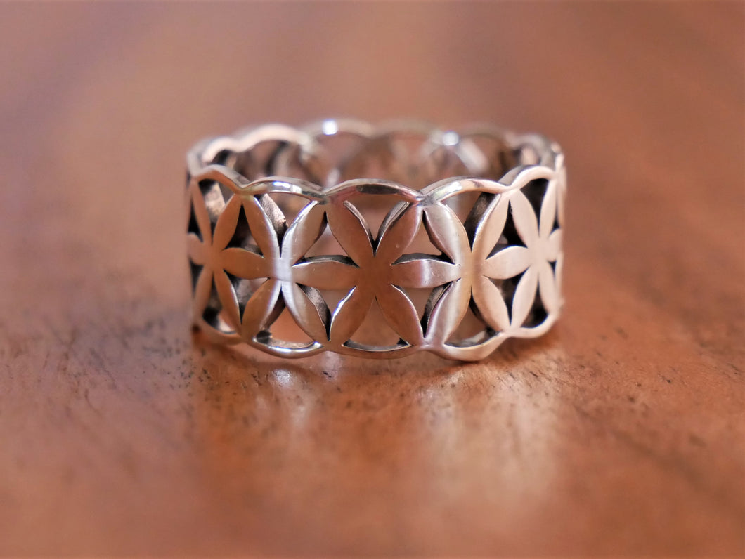 Solid Frangipani Silver Ring - Ocean Gypsy NZ