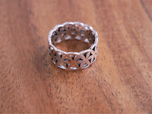 Load image into Gallery viewer, Solid Frangipani Silver Ring - Ocean Gypsy NZ