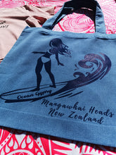 Load image into Gallery viewer, Girl in the Curl Beach Tote - Ocean Gypsy NZ