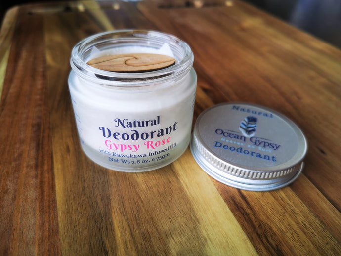 Gypsy Rose Scented Natural Deodorant Arm Balm infused with Kawakawa Oil